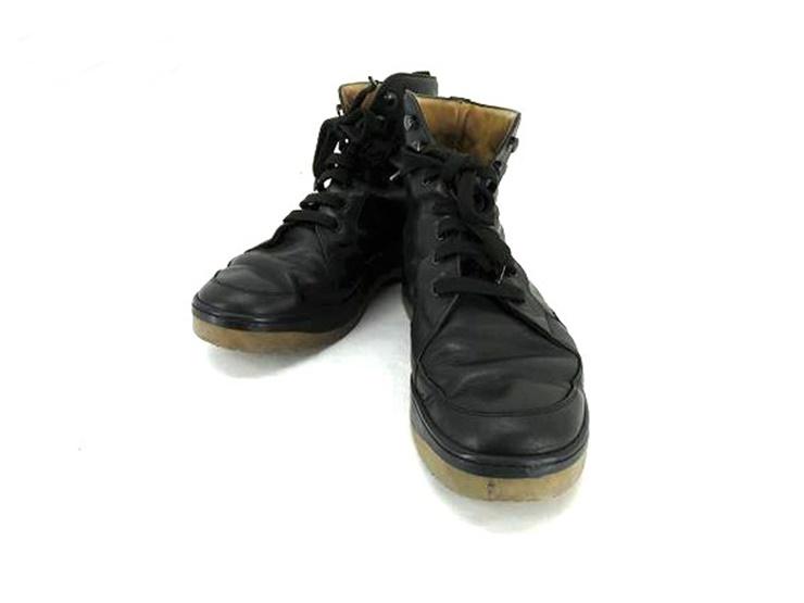 LOUIS VUITTON ルイヴィトン メンズ ショート ブーツ レザー ブラック 表記 7 参考サイズ 26cm 【本物保証】【中古】