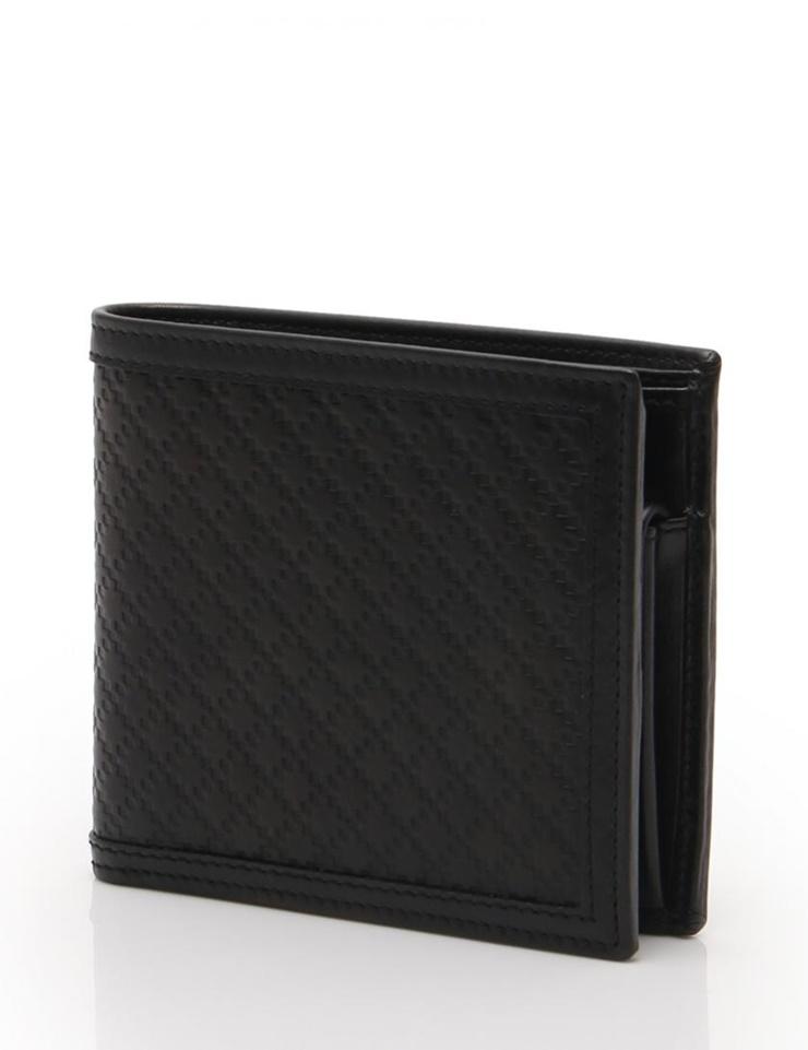 新品未使用展示品 GUCCI グッチ 二つ折り財布 ディアマンテ 237359 レザー 黒 メンズ【本物保証】【中古】