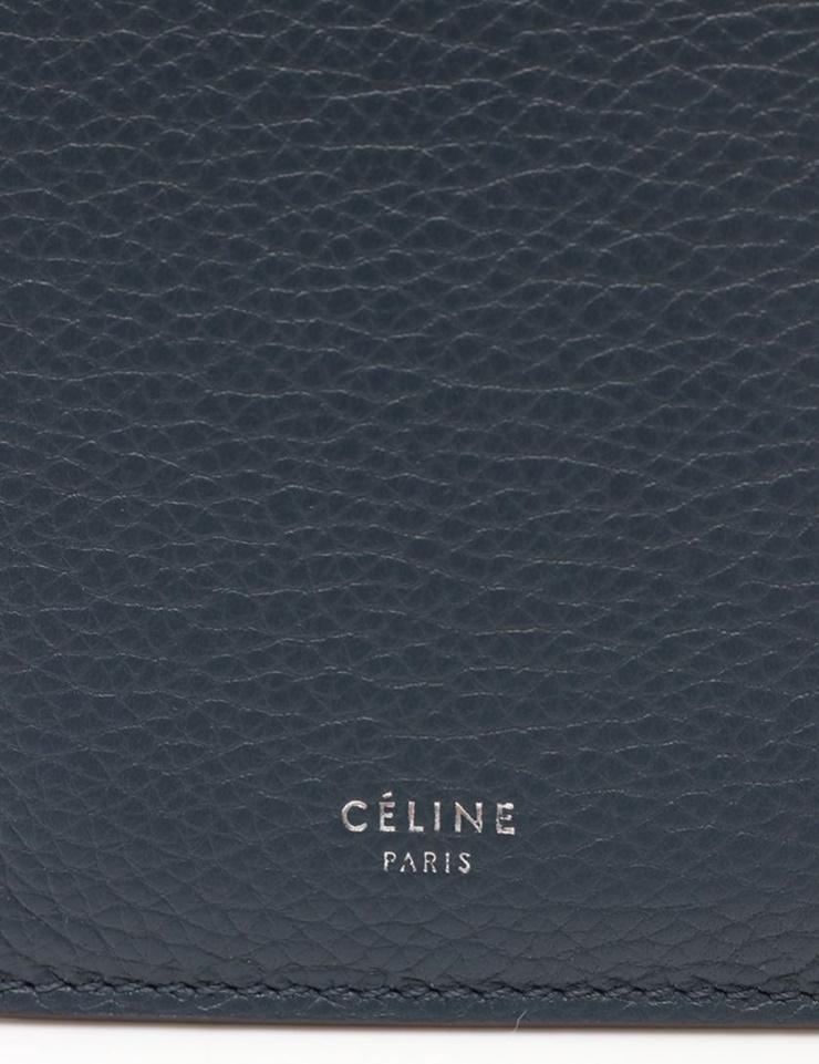 dd1e6e028d71 美品 セリーヌ iPhoneケース 携帯ケース スマホケース レザー 青 ブルー ...