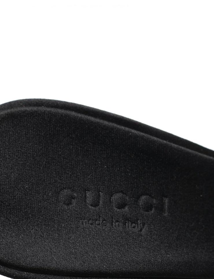 新品未使用展示品 GUCCI グッチ サンダル パンプス ベロア ファー パイソン 黒 メーカーサイズ34 1 2 参考サイズ21 5cm 本物保証EDH2I9W