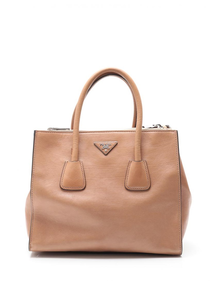 203c3f50c43118 PRADA Prada GLACE'CALF 2WAY handbag B2625M leather brown [genuine guarantee]
