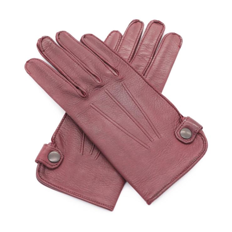 美品 HERMES エルメス グローブ 手袋 レザー ボルドー 表記:7 アパレル 小物 レディース【本物保証】【中古】