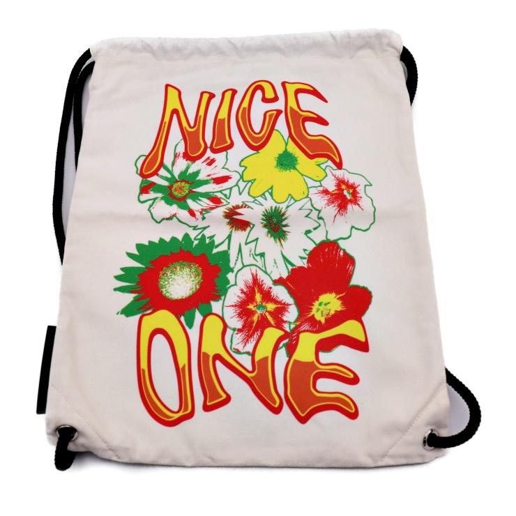 新品未使用展示品 Stella McCartney ステラマッカートニー リュック バックパック NICE ONE キャンバス ホワイト【本物保証】【中古】