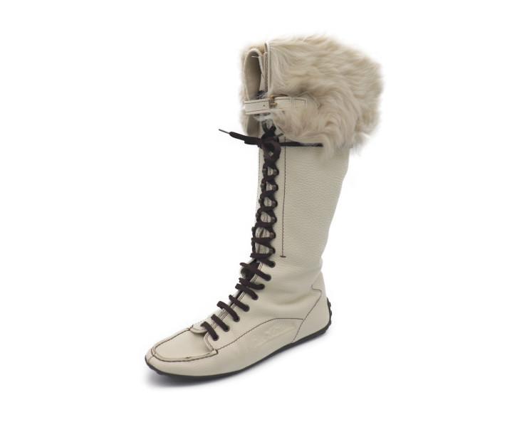 83e4d8f29 Beautiful article LOUIS VUITTON Louis Vuitton race up long boots leather  mouton reference size 25.5cm [genuine guarantee]