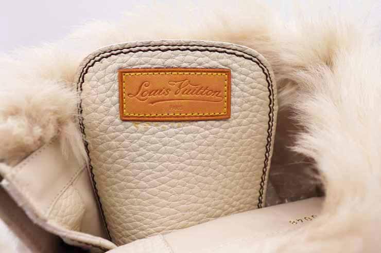 7d394e749 ... Beautiful article LOUIS VUITTON Louis Vuitton race up long boots leather  mouton reference size 25.5cm ...