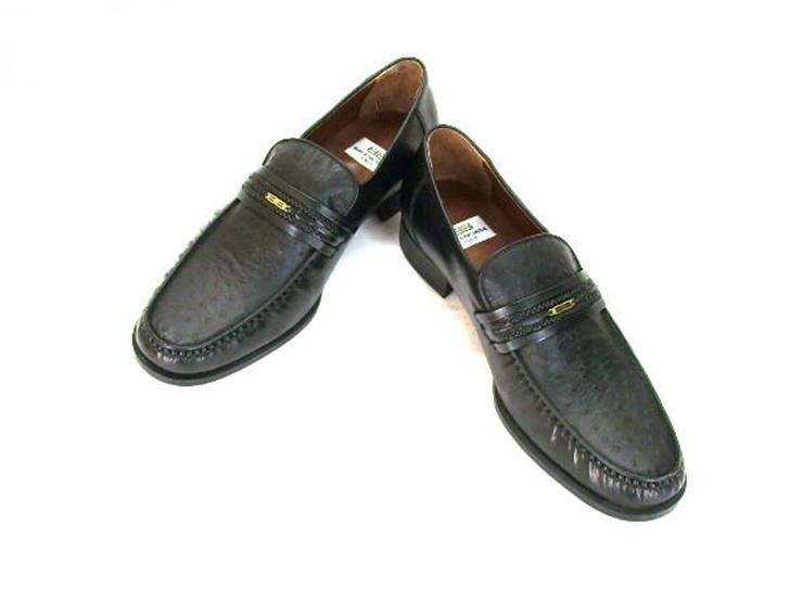 新品未使用展示品 BALENCIAGA バレンシアガ メンズ ビジネスシューズ ローファー 靴 レザー ブラック 表記サイズ 26.5【本物保証】【中古】