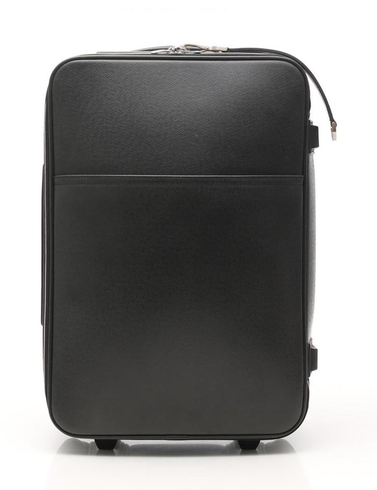 【エントリーでポイント10倍!4/9~】LOUIS VUITTON ルイヴィトン ペガス55 キャリーケース スーツケース 旅行鞄 M23312 タイガ レザー アルドワーズ 黒【本物保証】【中古】