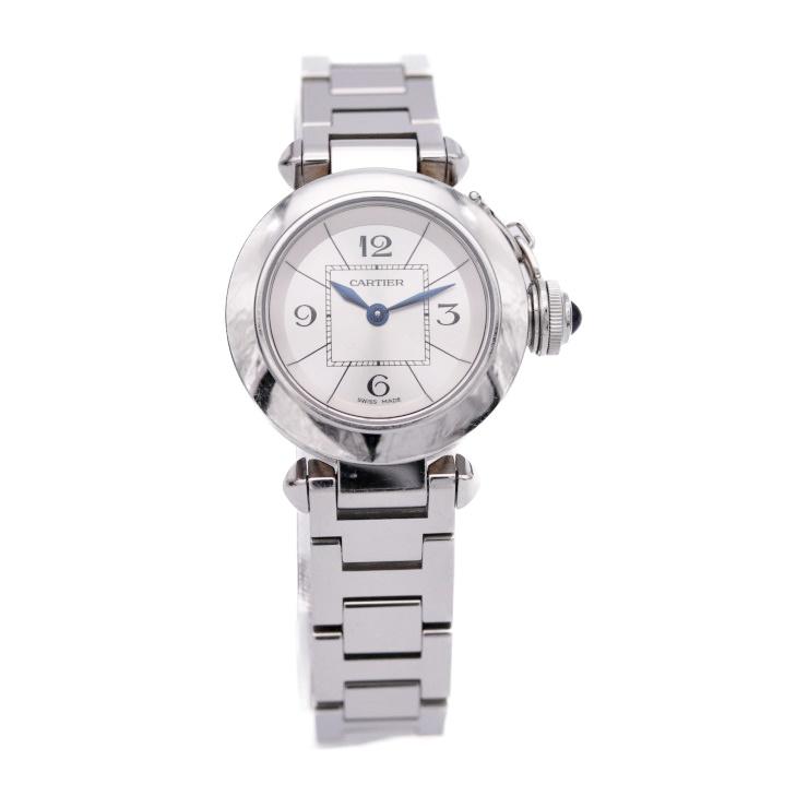 【エントリーでポイント10倍!4/9~】Cartier カルティエ ミスパシャ レディース 腕時計 W3140007 SS シルバー クォーツ【本物保証】【中古】