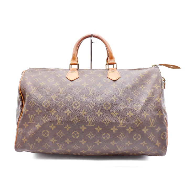 abd651dabe9 LOUIS VUITTON Louis Vuitton speedy 40 handbag Boston bag M41522 monogram  PVC leather brown man and woman combined use is possible
