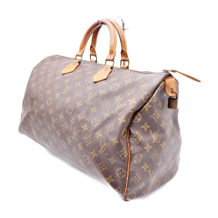 24aa9ba7e2cf2 Possible LOUIS VUITTON Louis Vuitton speedy 40 handbag Boston bag M41522  monogram PVC leather brown man and woman combined use  genuine guarantee