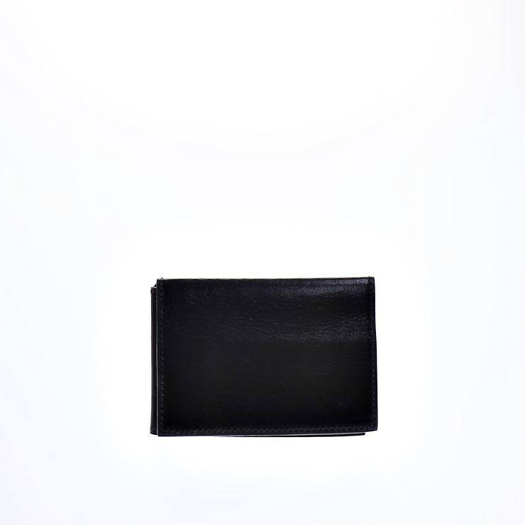 HERMES エルメス クルネゼー 三つ折り カードケース レザー 黒【本物保証】【中古】
