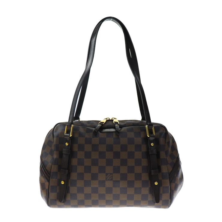 LOUIS VUITTON ルイヴィトン リヴィントンPM N41158 ショルダーバッグ ダミエ エベヌ【本物保証】【中古】