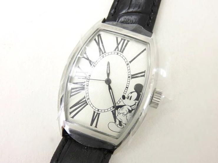 【新品未使用展示品】MIC エムアイシー Disney ディズニー ミッキーマウス ウォッチ 腕時計 自動巻き MIC106 SS レザー ブラック×シルバー文字盤 世界限定200本 男女兼用可【本物保証】【中古】