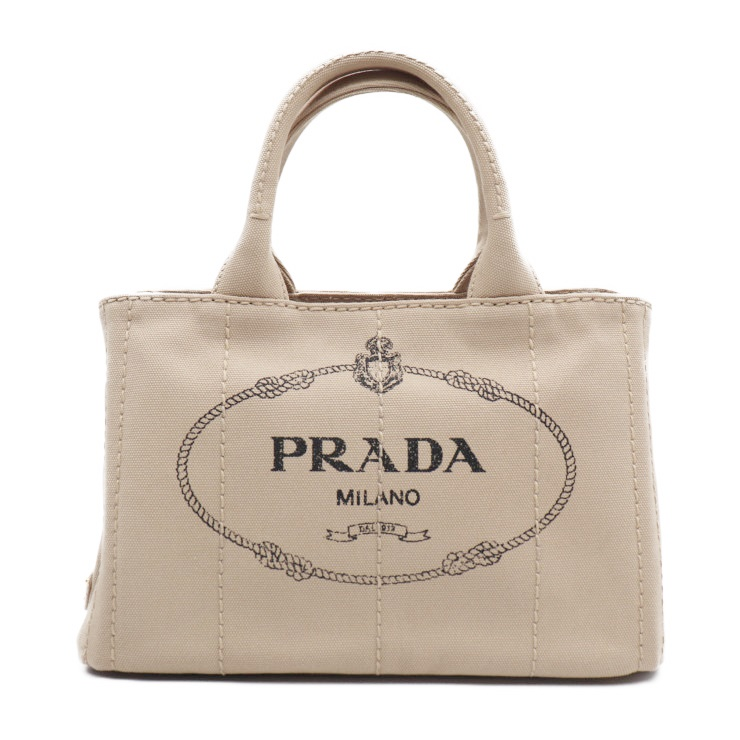 1079e5d68835 Super beautiful article PRADA plastic Dacca Napa mini-handbag shoulder  strap 1BG439 beige canvas with