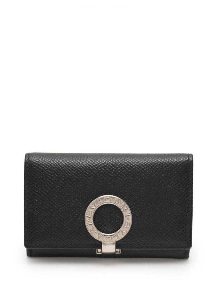 BVLGARI ブルガリブルガリ ブルガリ ロゴクリップ コインケース 財布 レザー 黒 ブラック【本物保証】【中古】