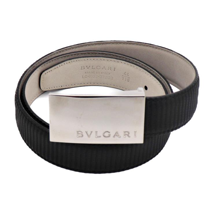 BVLGARI ブルガリ ベルト ミレリゲ PVC ブラック サイズ110 メンズ アパレル 小物【本物保証】【中古】