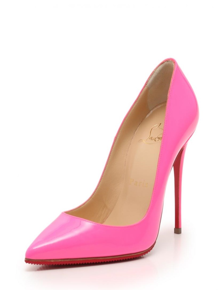 new style bd245 af240 New article-free display Christian Louboutin クリスチャンルブタン SO KATE 120 pumps  enamel leather shocking pink maker size 35 1/2 reference ...