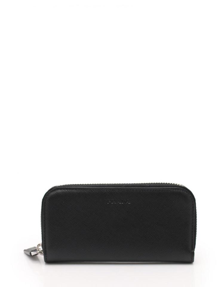 ed42178e288 New article-free display PRADA Prada six key case round fastener 2M0604  サフィアーノレザー black accessory  genuine guarantee
