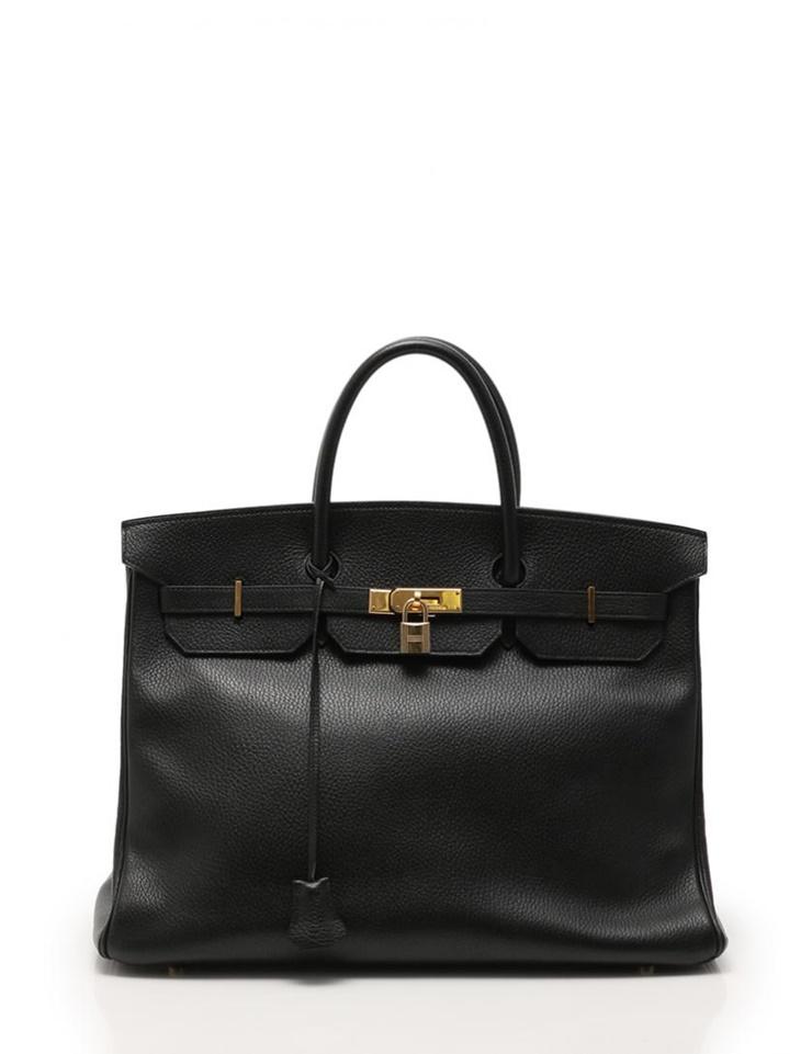 f03495b6884 HERMES Hermes Birkin 40 handbag Ardennes leather black □ A carved seal gold  metal fittings [genuine guarantee]