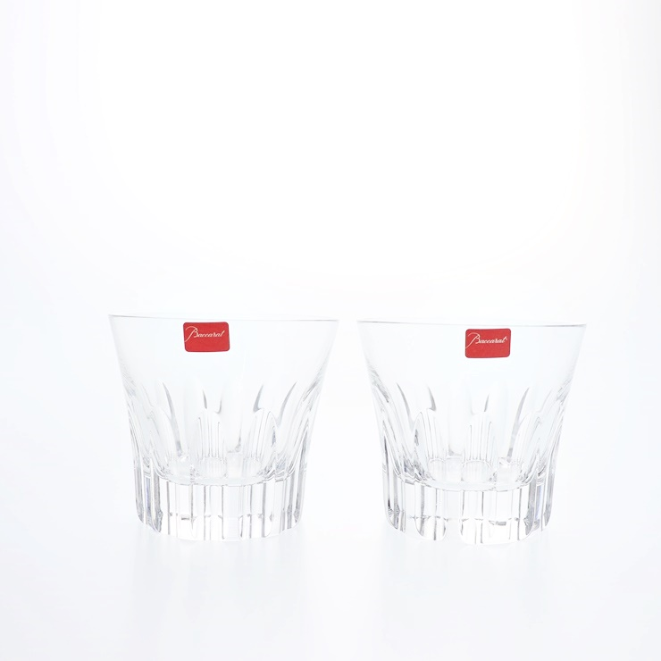 新品未使用展示品 Baccarat バカラ エトナ ロックグラス ペア クリスタルガラス クリア 食器【本物保証】【中古】