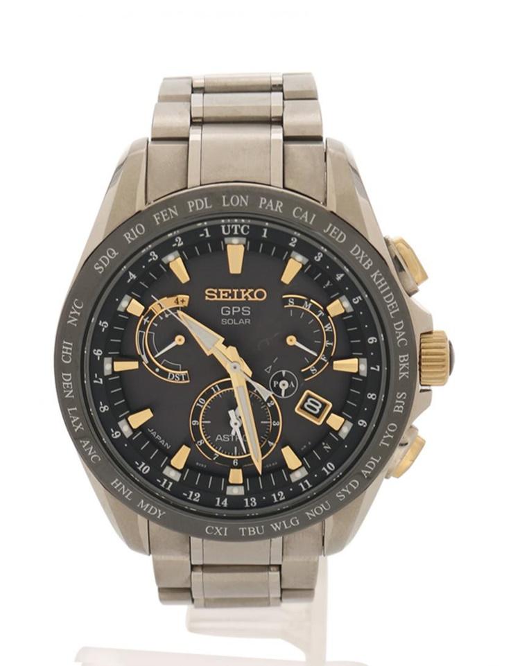 超美品 SEIKO セイコー ASTRON アストロン 電波ソーラー GPSウォッチ メンズ 腕時計 8X53-0AB0-2 SBXB073 SS シルバー【本物保証】【中古】