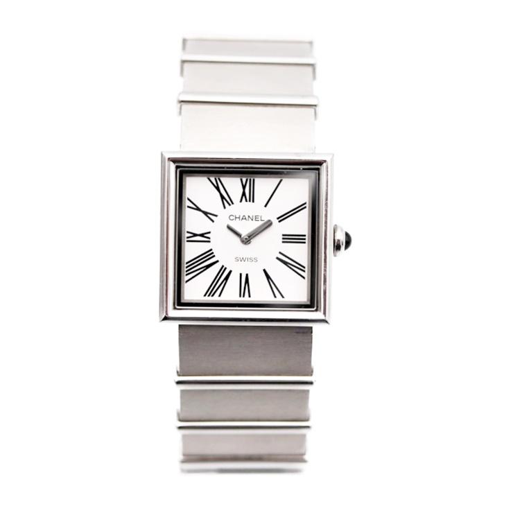 【エントリーでポイント10倍!4/9~】美品 CHANEL シャネル マドモワゼル レディース腕時計 H0827 クォーツ SS シルバー 白文字盤 【本物保証】【中古】