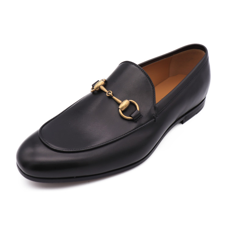 d3be58c6a New article-free display GUCCI Gucci hose bit loafer 482467 black black  leather men notation size 5 1/2 reference size 24.5cm