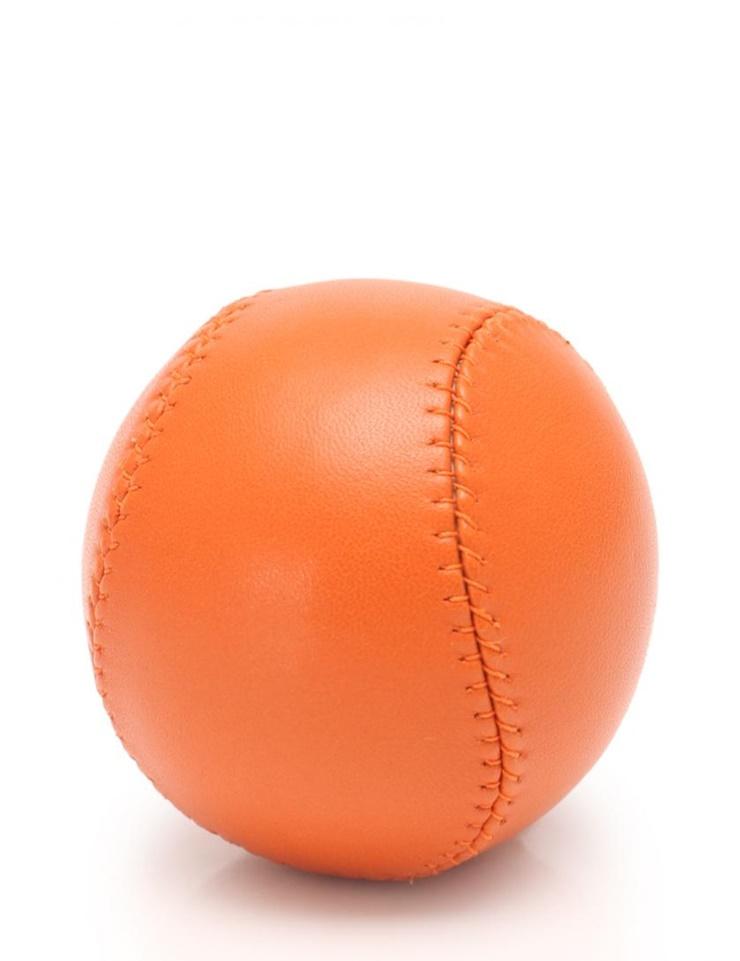 【エントリーでポイント10倍!4/9~】超美品 HERMES エルメス ボール レザー オレンジ 2007年檜町公園店オープン記念 ノベルティ【本物保証】【中古】