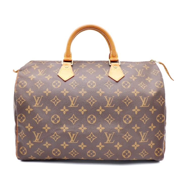 26c58c906cce LOUIS VUITTON Louis Vuitton speedy 35 monogram handbag M41524 PVC leather  brown  genuine guarantee