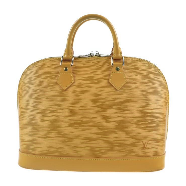 超美品 LOUIS VUITTON ルイ ヴィトン エピ アルマ M52149 ハンドバッグ 黄色 タッシリイエロー【本物保証】【中古】