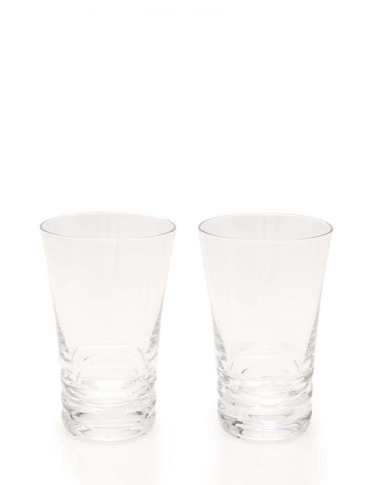 超美品 Baccarat バカラ ローラ タンブラー ペアグラス クリスタルガラス クリア 2点セット【本物保証】【中古】