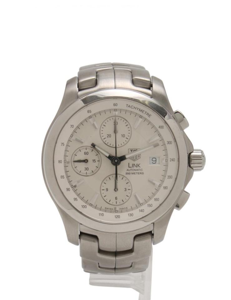 美品 TAG HEUER タグホイヤー リンク クロノグラフ 自動巻き メンズ 腕時計 CJF2111 BA0576 SS シルバー【本物保証】【中古】
