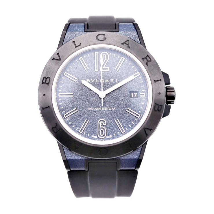 【エントリーでポイント10倍!4/9~】超美品 BVLGARI ブルガリ ディアゴノ マグネシウム DG41SMC メンズ 腕時計 自動巻 ラバー【本物保証】【中古】