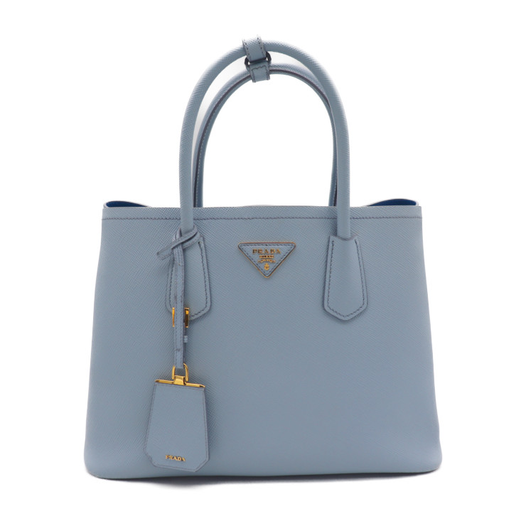 a20f99b5bf4f Beautiful article PRADA プラダサフィアーノキュイールダブルバッグ 2WAY handbag 1BG775 astral blue   genuine guarantee
