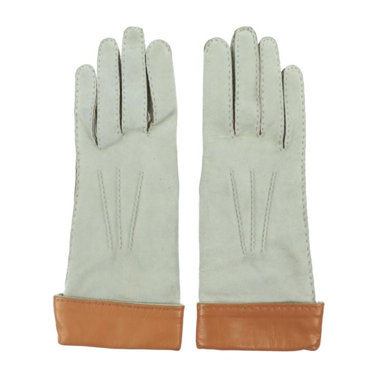 HERMES エルメス グローブ 手袋 レザー ベージュ 薄茶 表記サイズ 7【本物保証】【中古】