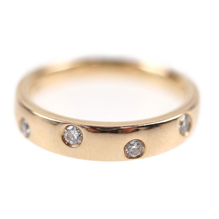 4℃ ヨンドシー FDデザイン リング・指輪 K18ゴールド ダイヤモンド ピンクゴールド 約7.5号【本物保証】【中古】