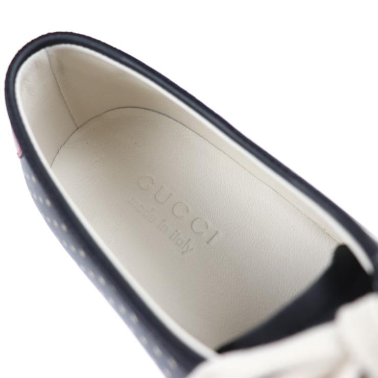 新品未使用展示品 GUCCI グッチ GUCCY プリント スター ビー スニーカー 519723 レザー ブラック 参考サイズ27 5cm 表記サイズ 8 1 2 本物保証xBoredC