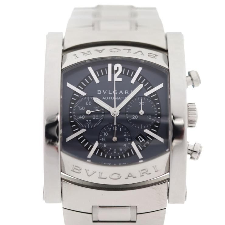 BVLGARI ブルガリ アショーマクロノ 腕時計 AA44SCH ステンレススチール グレー文字盤 自動巻【本物保証】【中古】