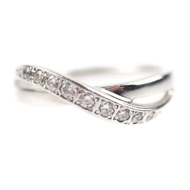 4℃ ヨンドシー リング・指輪 K18ホワイトゴールド ダイヤモンド ホワイトゴールド【本物保証】【中古】