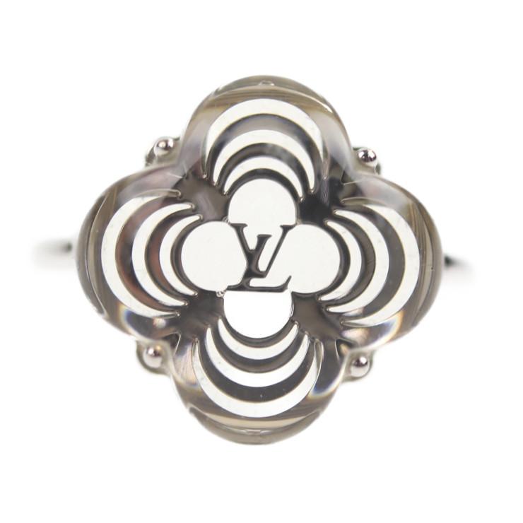 LOUIS VUITTON ルイ ヴィトン バーグアラフォリ リング・指輪 M65665 メタル クリア シルバー 実寸5号【本物保証】【中古】
