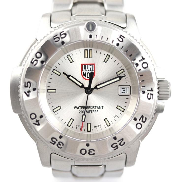 新品未使用展示品 LUMINOX ルミノックス ネイビーシール スチール 3200シリーズ 腕時計 ステンレススチール シルバー 日本限定モデル【本物保証】【中古】