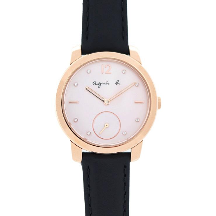 新品未使用展示品 agnes b. アニエスベー 腕時計 FCST710 ステンレススチール ピンクゴールド 30周年記念限定モデル【本物保証】【中古】