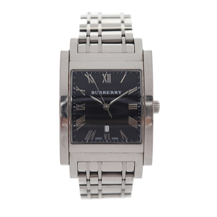 BURBERRY バーバリー 腕時計 BU1555 ステンレススチール ブラック文字盤 クォーツ メンズ【本物保証】【中古】