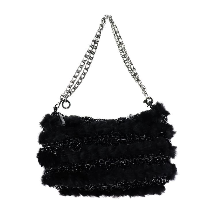 美品 ANTEPRIMA アンテプリマ ワイヤーバッグ ハンドバッグ PVC ブラック【本物保証】【中古】