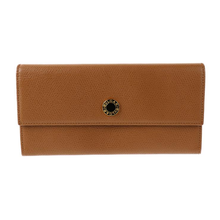 超美品 BVLGARI ブルガリ クラシコ 長財布 20910 キャメル 二つ折り【本物保証】【中古】