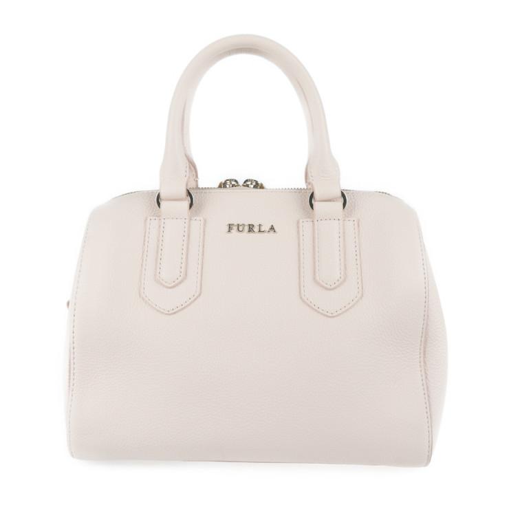 Furla フルラ ハンドバッグ 超美品 2WAY 本物保証 ピンク系 レザー スーパーセール ショルダー 中古 誕生日/お祝い