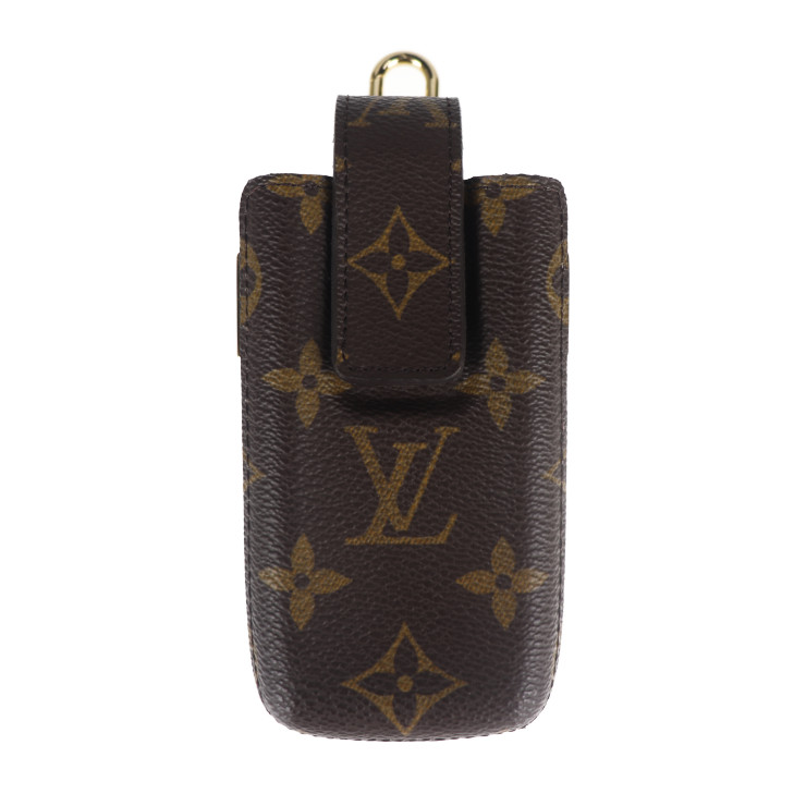 LOUIS 1年保証 VUITTON ルイ ヴィトン カードケース 超美品 人気商品 モノグラム 本物保証 モノグラムキャンバス ブラウン エテュイテレフォンヌ M63060 中古