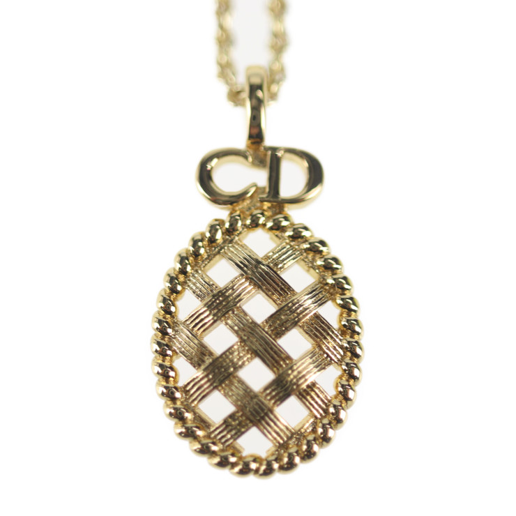 Christian Dior クリスチャンディオール ネックレス 新品未使用展示品 ロゴ 最新アイテム 卸直営 ゴールド メタル 本物保証 中古