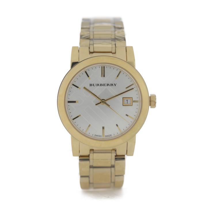 BURBERRY バーバリー 腕時計 新品未使用展示品 驚きの値段 THE CITY ステンレススチール BU9103 本物保証 シルバー文字盤 ゴールド 中古 本物◆