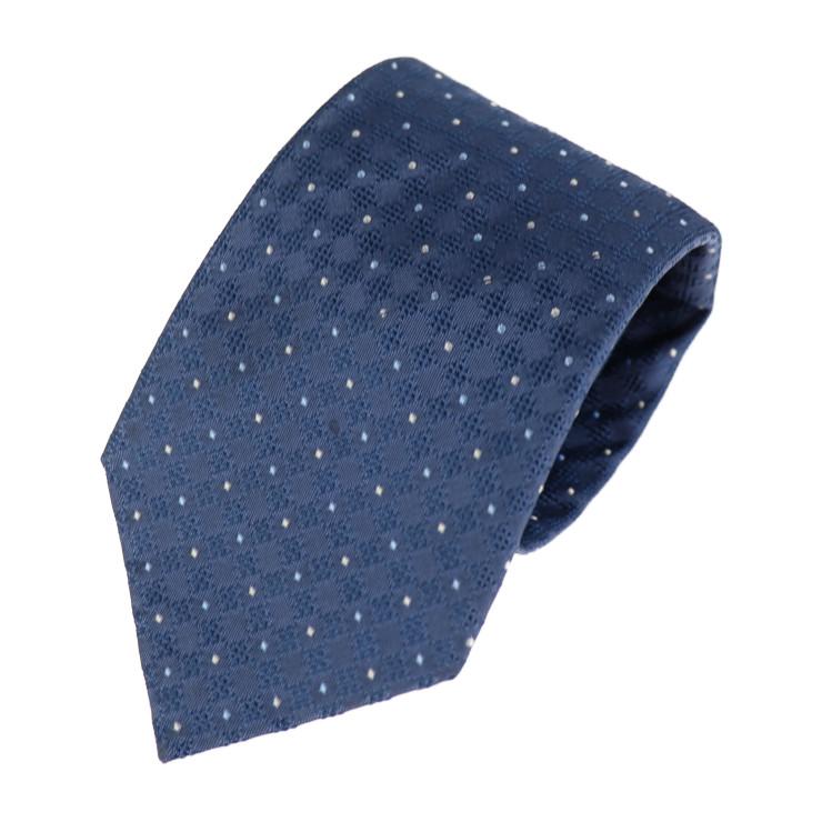 LOUIS VUITTON ルイ ヴィトン ネクタイ 美品 シルク アパレル 小物 本物保証 お求めやすく価格改定 メンズ ブルー 中古 人気上昇中